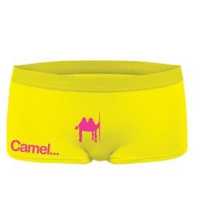 Дамски боксери Camel, жълти