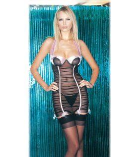 Набрана жартиерна рокля с цип и прашки