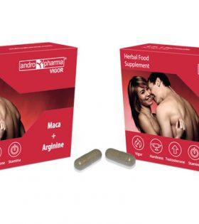 Andropharma VIGOR - Хранителна добавка за подобряване на ерекцията, 30 капсули