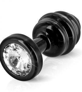 Diogol - Ano Butt Plug Ribbed Black 35 mm