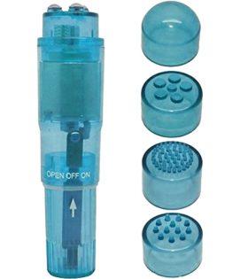 Вибро стимулатор и масажор POCKET PLEASURE BLUE 10 см.