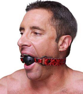 Топка за уста с отвори LUXURY BALL GAG RED