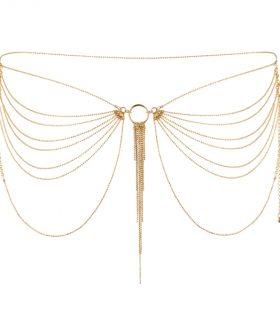 Верижки за тяло Bijoux Indiscrets - Magnifique Waist Jewelry Gold