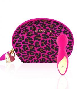 Мини вибратор RS - Essentials - Lovely Leopard Mini Wand Pink