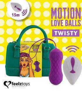 Вагинални топчета FeelzToys - Remote Controlled Motion Love Balls Twisty