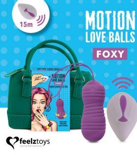 Вагинални топчета FeelzToys - Remote Controlled Motion Love Balls Foxy