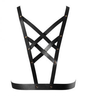 Дамски колан Bijoux Indiscrets - Maze Net Cleavage Harness Black