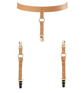 Bijoux Indiscrets - Maze Suspender Underwear & Stockings Belt Brown