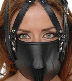 Кожена маска Strict Leather Face Harness