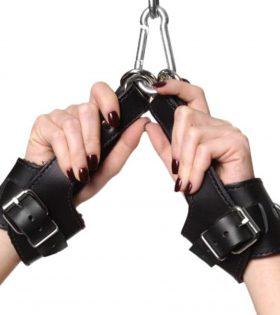 Кожени белезници за ръце Strict Leather Fleece Lined Suspension Cuffs