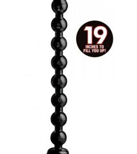 "2"" Beaded Hose - 19"" long - Black"
