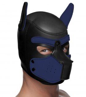 Neoprene Puppy Hood - Black and Blue