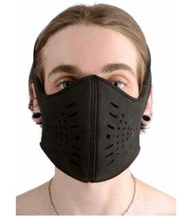 Neoprene Snap On Face Mask - Black