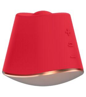 Rotating & Vibrating Clitoral Stimulator - Dazzling - Red