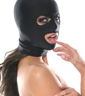 Spandex 3 Hole Hood - Black