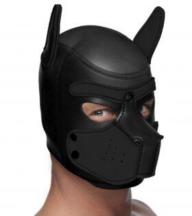 Spike Neoprene Puppy Hood - Black