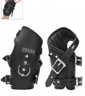 Suspension Cuffs Leather Hands & Feet - Black