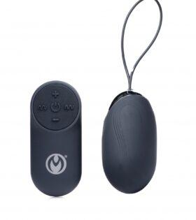 Thunder Egg 21X Silicone Vibrator with Remote Control - Black