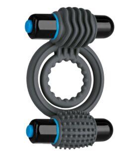 Vibrating Double C-Ring - Grey