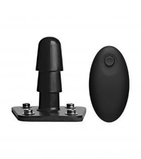 Vibrating Plug with Wireless Remote - Black