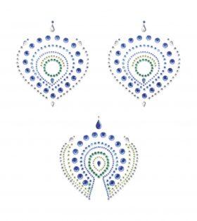 Декорация за тяло Flamboyant- синьо и зелено