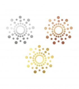 Пастиси MIMI - Metallic Skin Transfer Decorations